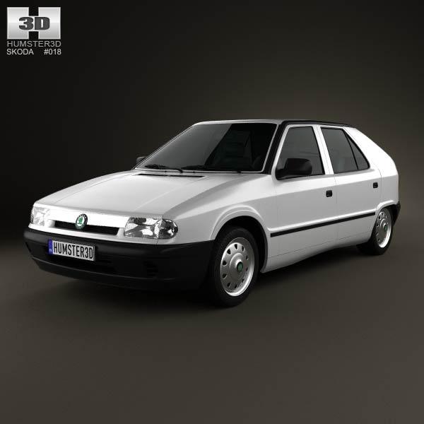 Skoda Felicia 1998 3d car model