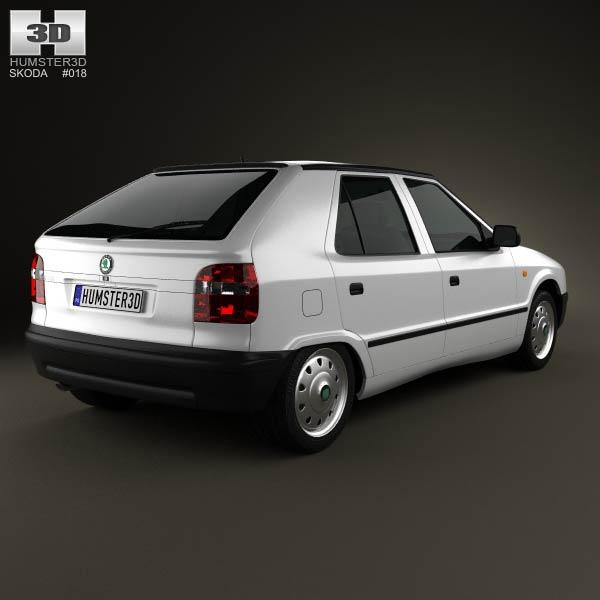 Skoda Felicia 1998 3d model