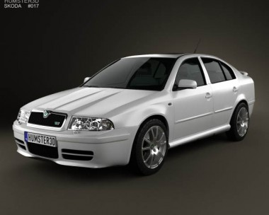 3D model of Skoda Octavia RS Tour 2000