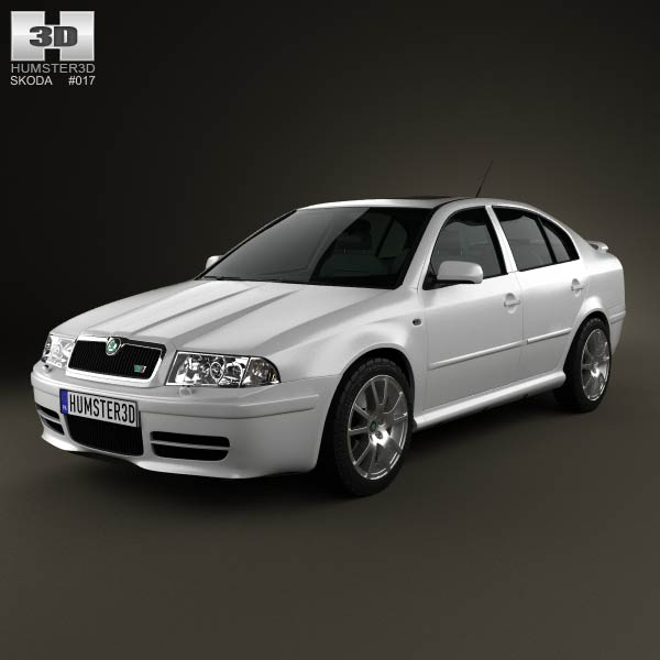 Skoda Octavia RS Tour 2000 3d car model