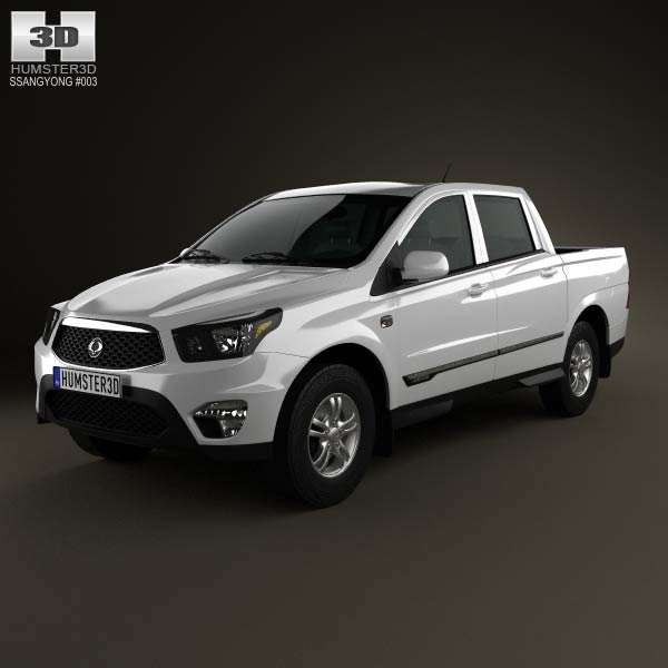 SsangYong Korando Sports (New Actyon) 2012 3d car model