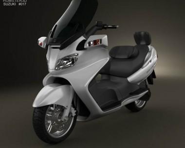 3D model of Suzuki Burgman (Skywave) AN650 Executive 2012