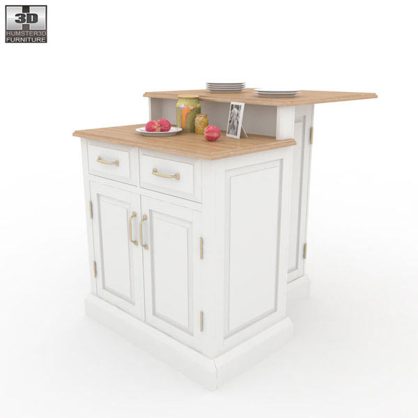 Woodbridge two tier kitchen island 3d model humster3d - Woodbridge Two Tier Kitchen Island 3d Model Humster3d