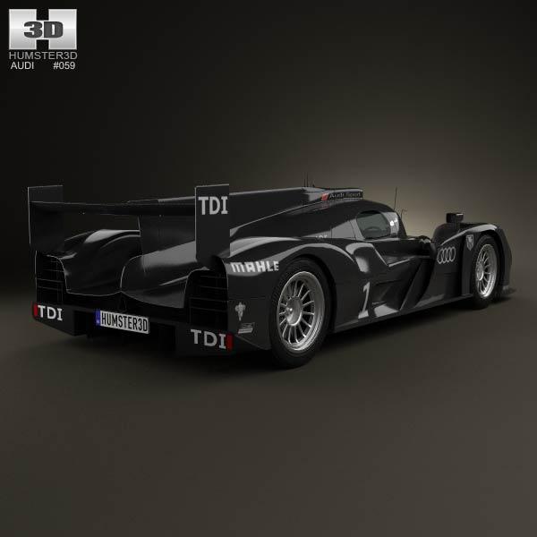 Audi R18 TDI 2011 3d model