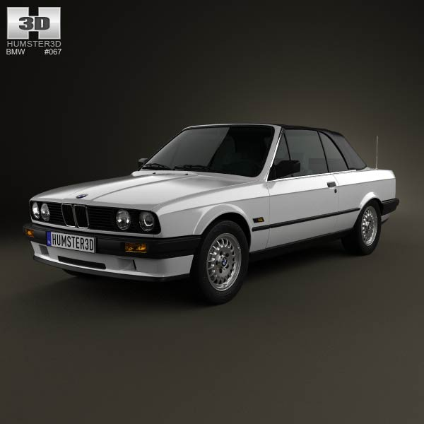 BMW 3 Series convertible (E30) 1990 3d car model