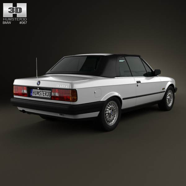 BMW 3 Series convertible (E30) 1990 3d model