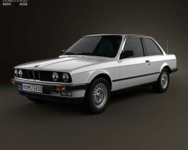 3D model of BMW 3 Series coupe (E30) 1990