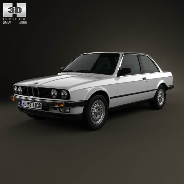 BMW 3 Series coupe (E30) 1990 3d car model