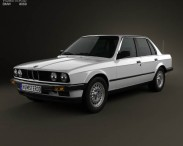 3D model of BMW 3 Series sedan (E30) 1990