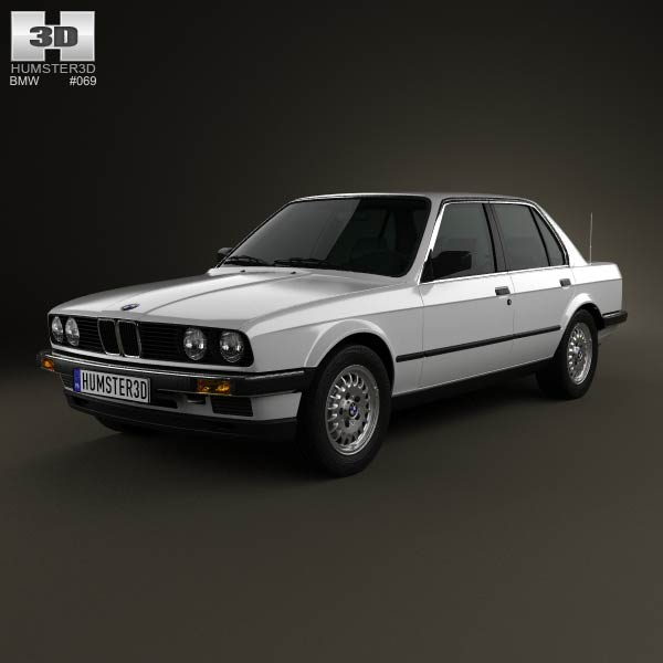 BMW 3 Series sedan (E30) 1990 3d car model