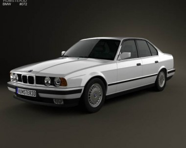 3D model of BMW 5 Series sedan (E34) 1993