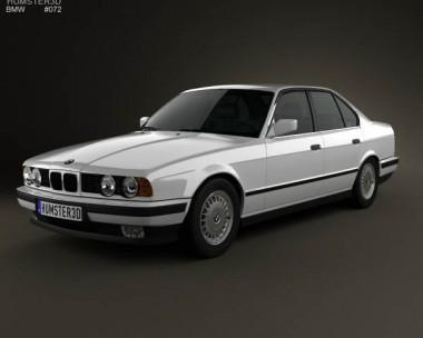 3D model of BMW 5 Series sedan (E34) 1993