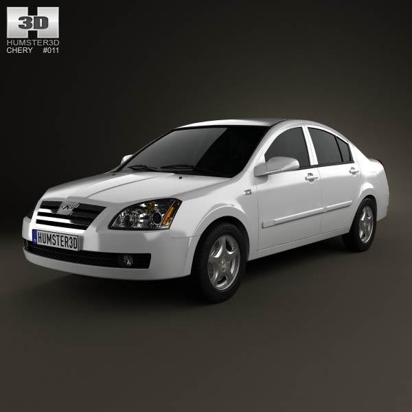 Chery A5 2010 3d model