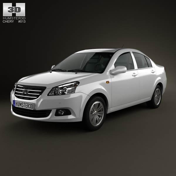 Chery E5 2012 3d car model