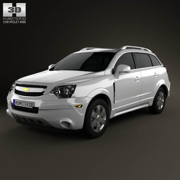Chevrolet Captiva (Brazil) 2012 3d car model