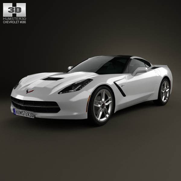 Chevrolet Corvette Stingray (C7) Coupe 2014 3d car model