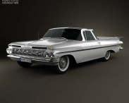 3D model of Chevrolet El Camino 1959