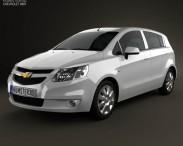 3D model of Chevrolet Sail hatchback 2012