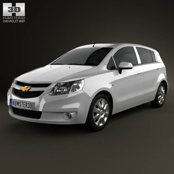 Chevrolet Sail hatchback 2012 3d car model