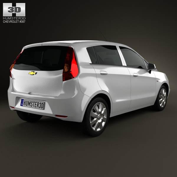 Chevrolet Sail hatchback 2012 3d model