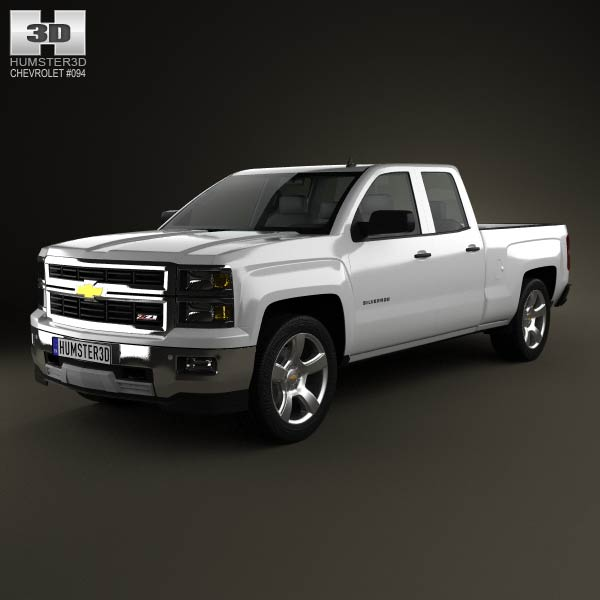 Chevrolet Silverado Extended Cab Z71 2014 3d car model