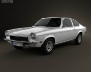 3D model of Chevrolet Vega hatchback 1971