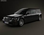 3D model of Chrysler 300C hearse 2009