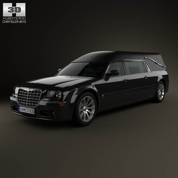 Chrysler 300C hearse 2009 3d car model