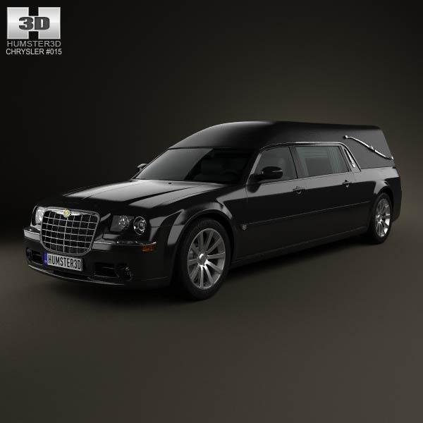 Chrysler 300C hearse 2009 3d car model
