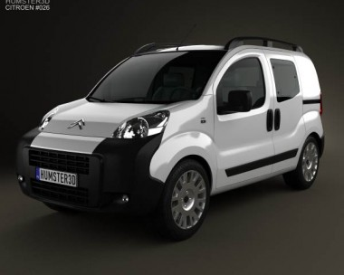 3D model of Citroen Nemo Combi 2011