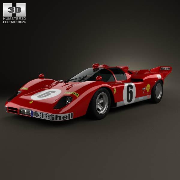 Ferrari 512 S 1970 3d car model