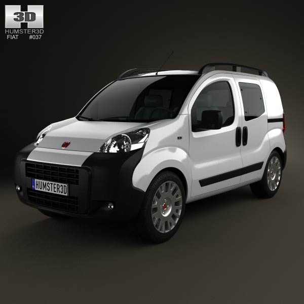 Fiat Fiorino Combi 2011 3d car model