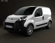 3D model of Fiat Fiorino Panel Van 2011
