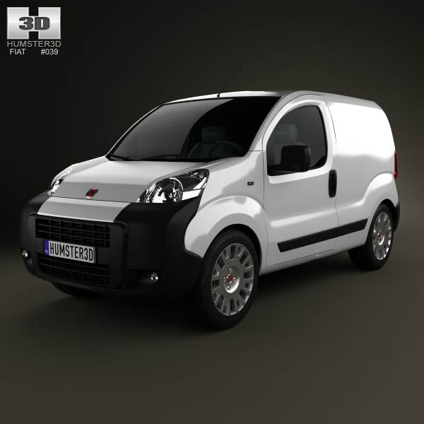 Fiat Fiorino Panel Van 2011 3d car model