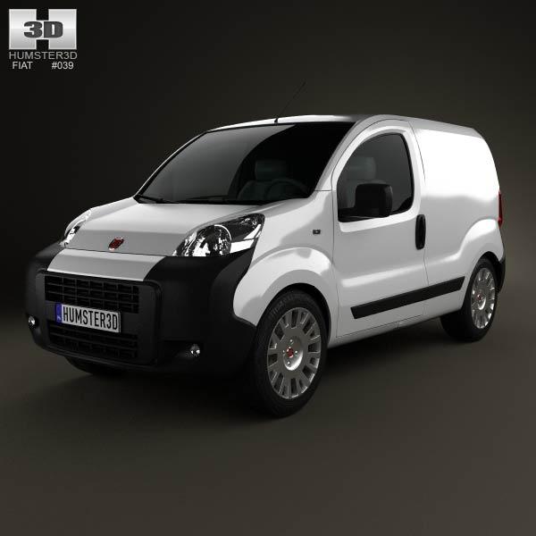 Fiat Fiorino Panel Van 2011 3d car model