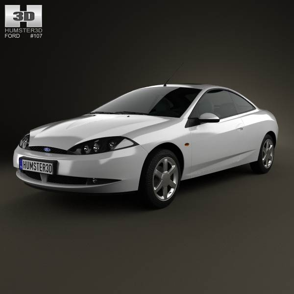 Ford Cougar 2002 3d car model