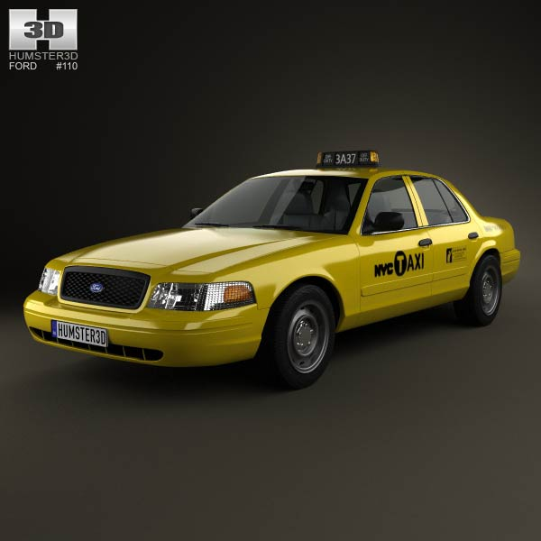 Ford Crown Victoria New York Taxi 2005 3d car model