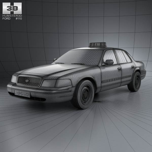 Ford crown victoria new york taxi 2005 3d model humster3d for Ford models new york