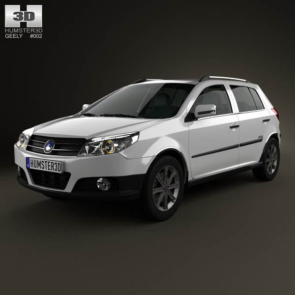 Geely MK Cross 2009 3d car model