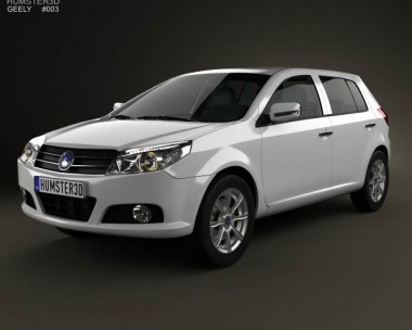 3D model of Geely MK hatchback 2009