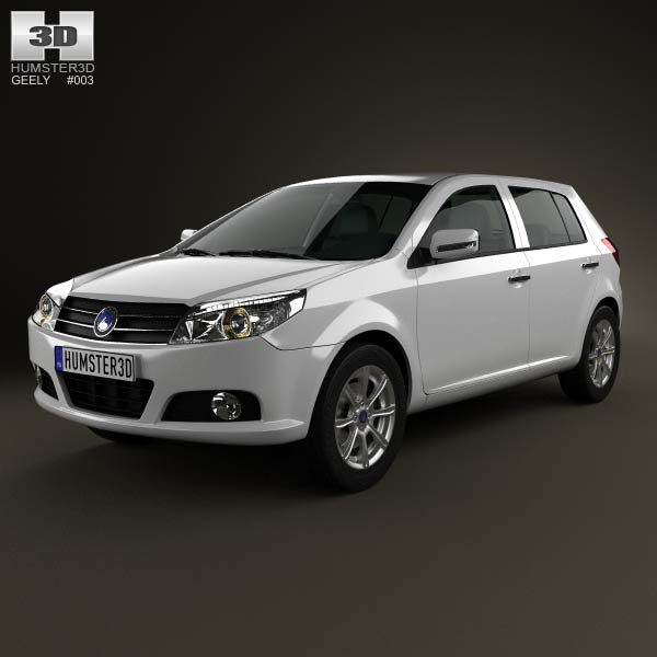 Geely MK hatchback 2009 3d car model
