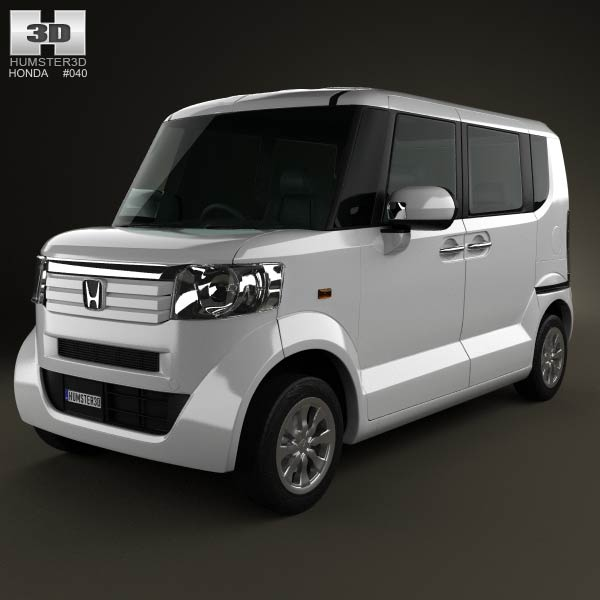 Honda N Box plus JF1 2012 3d car model