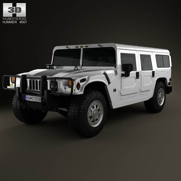 Hummer H1 wagon 2005 3d car model