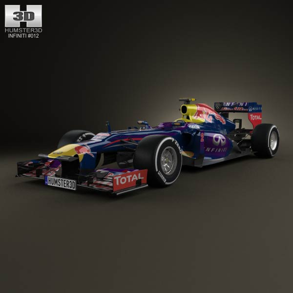 Infiniti RB9 Red Bull Racing F1 2013 3d car model