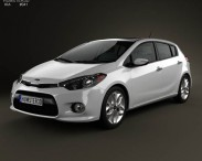 3D model of Kia Forte (Cerato / Naza / K3) hatchback 2014
