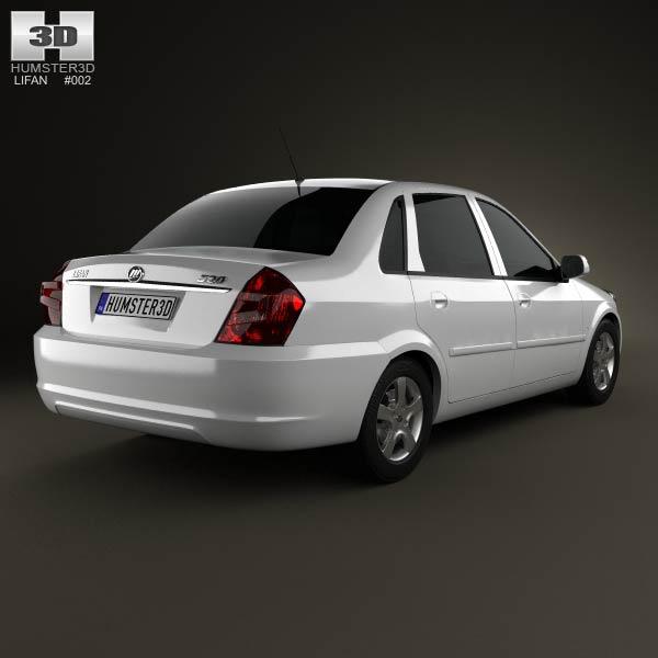 Lifan Breez (520) sedan 2012 3d model