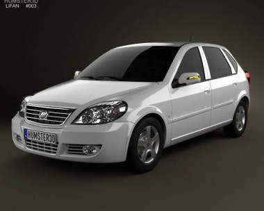3D model of Lifan Breez (521) hatchback 2012