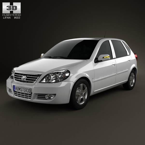 Lifan Breez (521) hatchback 2012 3d car model