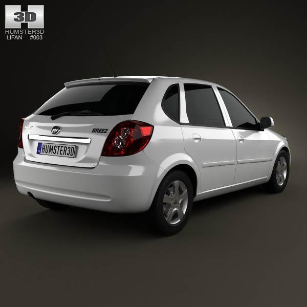 Lifan Breez (521) hatchback 2012 3d model