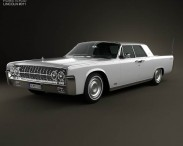 3D model of Lincoln Continental sedan 1962